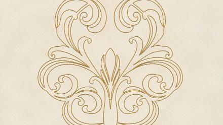 Vinyltapete Nobile Architects Paper Ornamente Creme Metallic 833