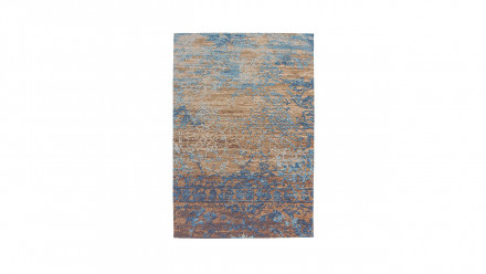 planeo Teppich - Blaze 600 Blau / Beige