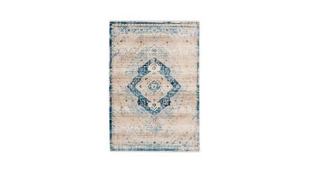 planeo Teppich - Baroque 500 Creme / Blau