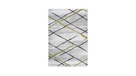 planeo Teppich - Vancouver 110 Weiß / Grau / Khaki