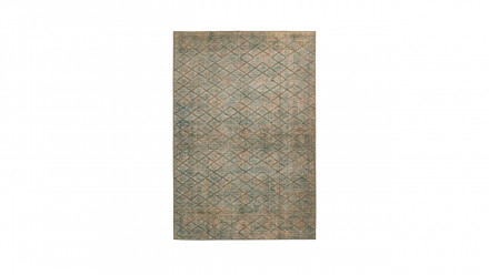 planeo Teppich - Antique 125 Blau / Gold / Khaki
