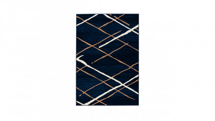 planeo Teppich - Vancouver 110 Blau / Beige / Weiß