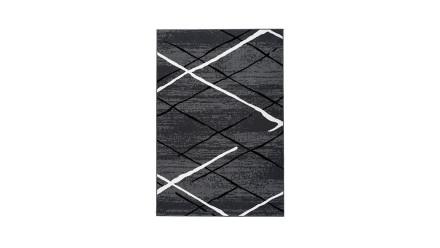 planeo Teppich - Vancouver 110 Anthrazit / Schwarz / Weiß