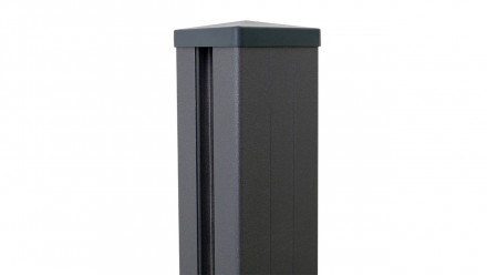 planeo Alumino - Alupfosten zum Einbetonieren Anthrazit DB703 7x7x150cm inkl. Kappe