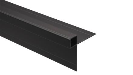 Trespa Proface Außeneckprofil - Metropolis Black 3000 mm