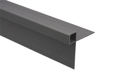 Trespa Proface Außeneckprofil - New York Grey 3000 mm