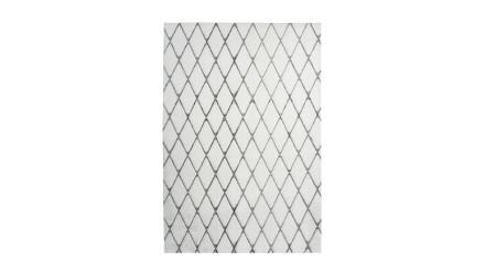 planeo Teppich - Vivica 225 Weiß / Anthrazit