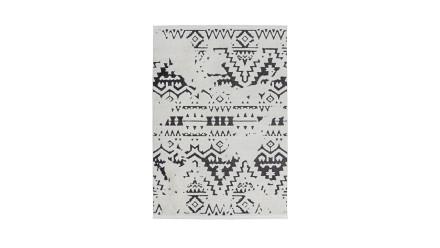 planeo Teppich - Agadir 110 Weiß / Schwarz