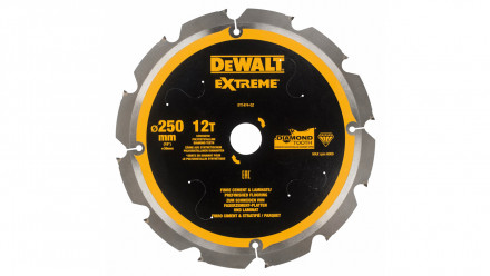 DeWalt Diamant Kreissägeblatt PCD 250mm 12 Zähne - 30mm Aufnahme