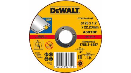 DeWalt Trennscheibe Edelstahl flach 125x1.2mm