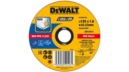 DeWalt Trennscheibe Edelstahl flach 125x1,6mm