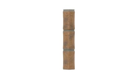 Zierer Bruchsteinoptik Ecke für BS1 - 54 x 54 x 345 mm gelb-geflammt aus GFK
