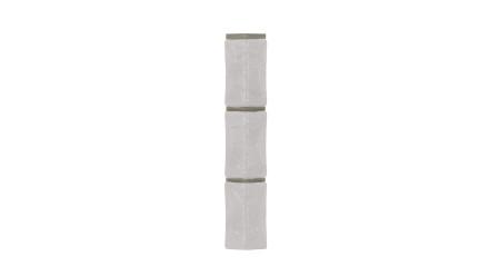 Zierer Bruchsteinoptik Ecke für BS1 - 54 x 54 x 345 mm weiß aus GFK
