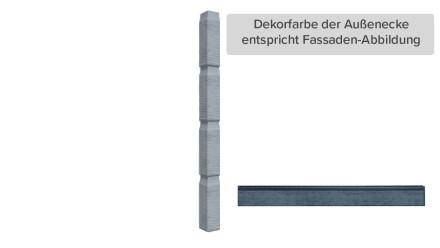 Zierer Holzoptik Ecke - 60 x 60 x 720 mm anthrazit aus GFK