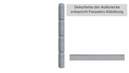 Zierer Holzoptik Ecke - 60 x 60 x 720 mm signalgrau aus GFK