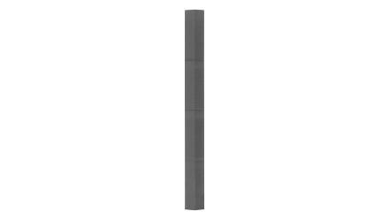 Zierer Holzoptik Ecke - 60 x 60 x 720 mm steingrau aus GFK
