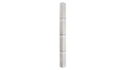 Zierer Holzoptik Ecke - 60 x 60 x 720 mm weiß aus GFK