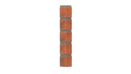 Zierer Klinkeroptik Ecke - 50 x 50 x 345 mm rot geflammt aus GFK