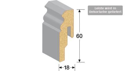 MEISTER Sockelleisten Fußleisten - Weiß DF (streichfähig) 2222 - 2500 x 60 x 18 mm