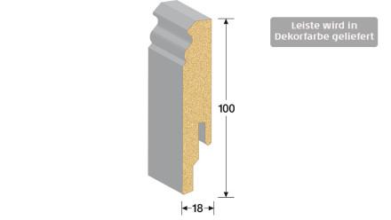 MEISTER Sockelleisten Fußleisten - Uni weiß glänzend DF 324 - 2500 x 100 x 18 mm