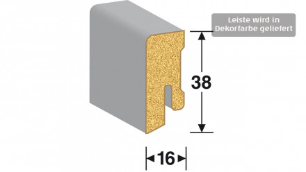 MEISTER Sockelleisten Fußleisten - Eiche cremeweiß 1158 - 2500 x 38 x 16 mm