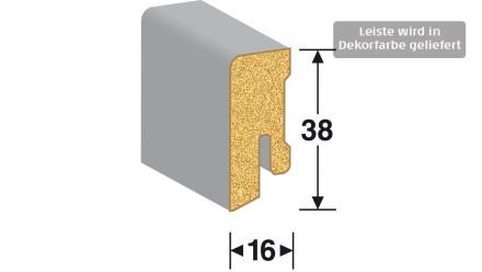 MEISTER Sockelleisten Fußleisten - Edelstahl DF 063 - 2500 x 38 x 16 mm