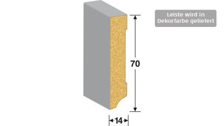 MEISTER Sockelleisten Fußleisten - Uni weiß glänzend DF 324 - 2500 x 70 x 14 mm