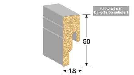 MEISTER Sockelleisten Fußleisten - Uni weiß glänzend DF 324 - 2500 x 50 x 18 mm