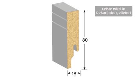 MEISTER Sockelleisten Fußleisten - Uni weiß glänzend DF 324 - 2500 x 80 x 18 mm