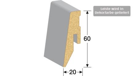 MEISTER Sockelleisten Fußleisten - Eiche weiß deckend 6536 - 2500 x 60 x 20 mm