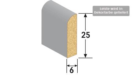 MEISTER Sockelleisten Fußleisten - Uni weiß glänzend DF 324 - 2500 x 25 x 6 mm