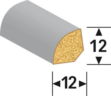 MEISTER Sockelleisten Fußleisten - Uni weiß glänzend DF 324 - 2500 x 12 x 12 mm
