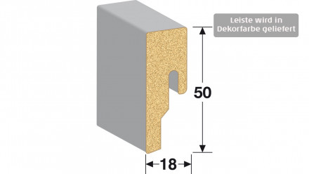 MEISTER Sockelleisten Fußleisten - Metallic hellgrau 6486 - 2600 x 50 x 18 mm