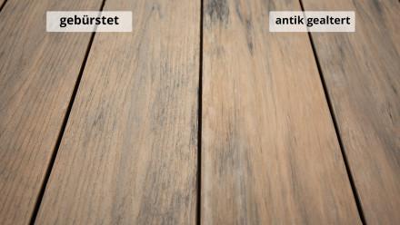 planeo TitanWood - Massivdiele braun-grau antik gealtert/gebürstet