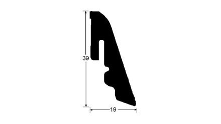 Haro Sockelleisten - 19x39Smm - Alabama Eiche