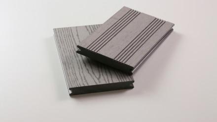 planeo WPC - Massivdiele grau - strukturiert/französisch