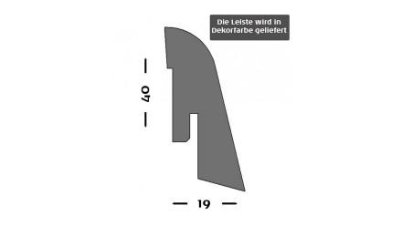 Sockelleisten Kährs - 19x40mm - Weiß - furniert