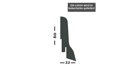 Sockelleisten Kährs - 22x60mm - Eiche Mattlack - furniert