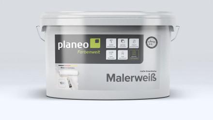planeo Malerweiß 10l weiß - stumpfmatt