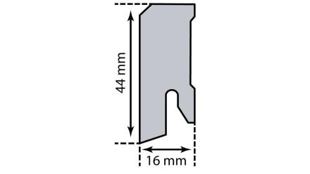 Kork-Sockelleiste KWG - 16 x 44 mm - Eiche Stone - versiegelt