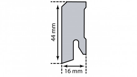 KWG Sockelleisten - 16 x 44mm - Lackweiß