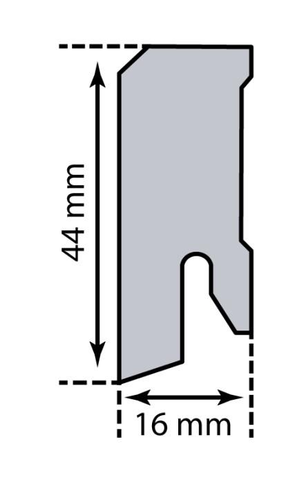 KWG Sockelleisten - 16 x 44mm - Marmor kristall