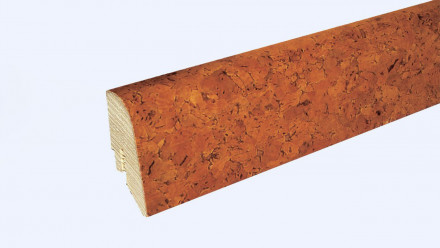 KWG Sockelleisten für Korkboden - 22 x 45mm - kastanie - grob