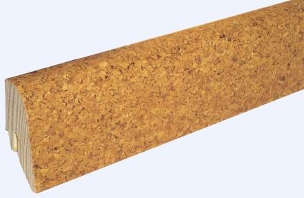 KWG Sockelleisten für Korkboden - 22 x 45mm - fein