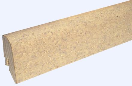 KWG Sockelleisten für Korkboden - 22 x 45mm - creme - fein