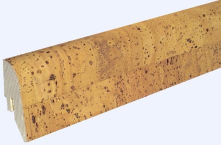 KWG Sockelleisten für Korkboden - 22 x 45mm - edel