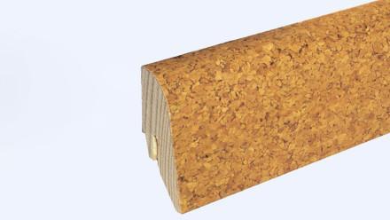 Holz-Sockelleiste KWG für Korkboden - 22 x 40mm - Korkfurnier grob
