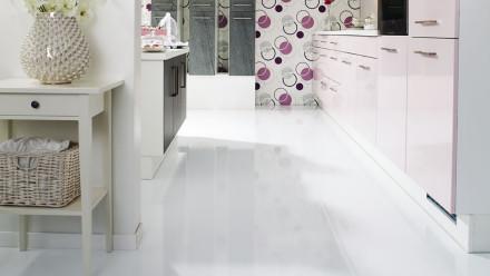 Wineo Laminat - 550 White hochglänzend -  Fliese