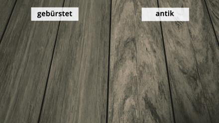 planeo WPC-Terrasse Massivdiele Sand antik gealtert/gebürstet