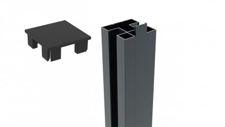 planeo FUN - Alupfosten zum Einbetonieren 250cm für WPC-Zaunset